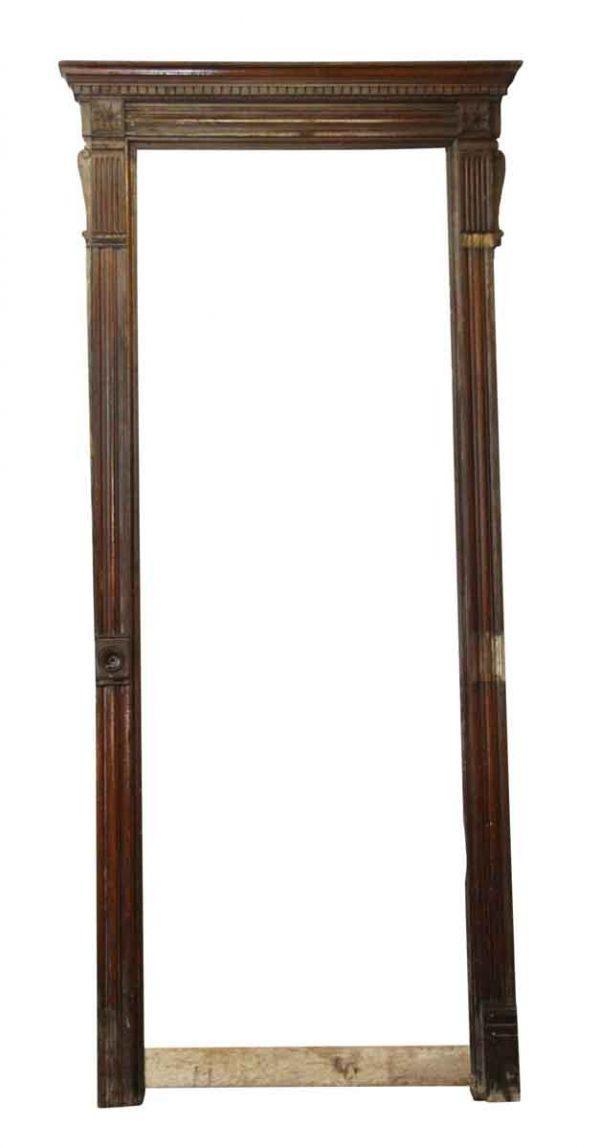 Door Transoms - Tall Antique Chestnut Door Frame