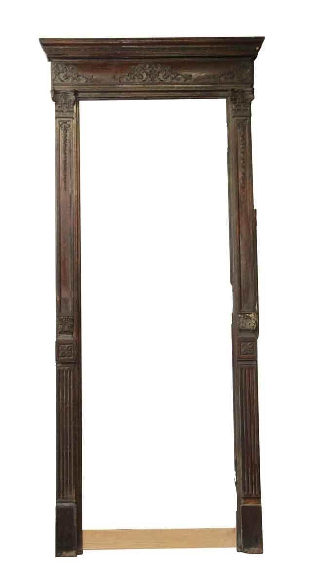 Door Transoms - Tall Antique Chestnut Door Frame with Filigree Detail - Tall Antique Chestnut Door Frame With Filigree Detail Olde Good Things