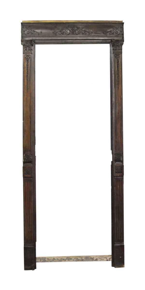 Door Transoms - Turn of the Century Chestnut Door Frame with Filigree Detail