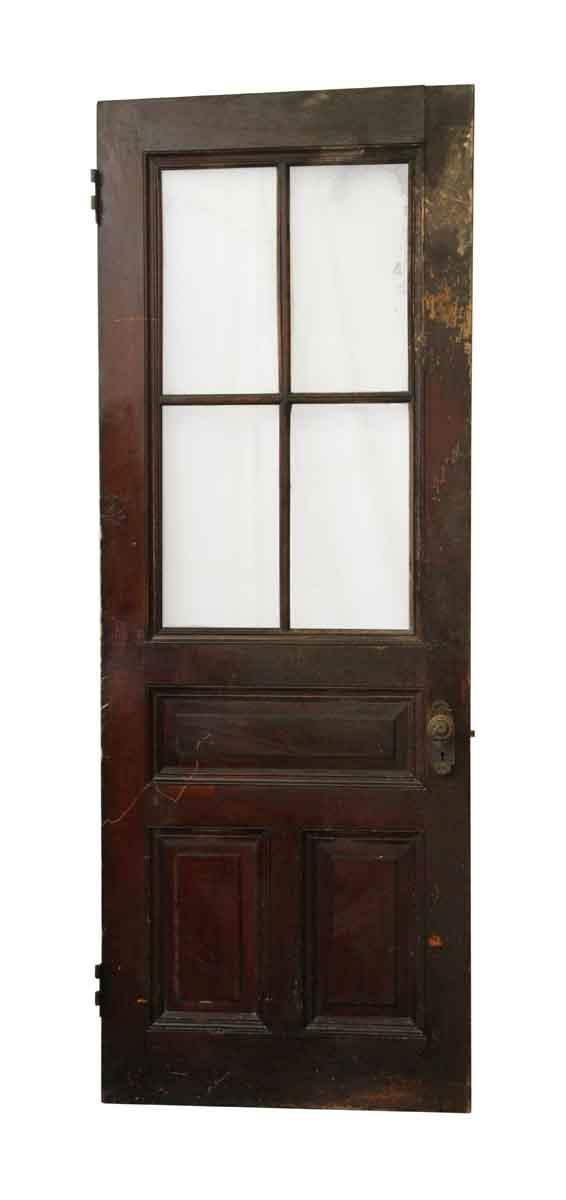 Seven Panel Wooden Door With 4 Half Glass Panels Olde Good Things