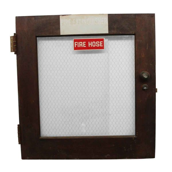 Fire Safety - Fire Hose Cabinet Door with Chicken Wire Glass