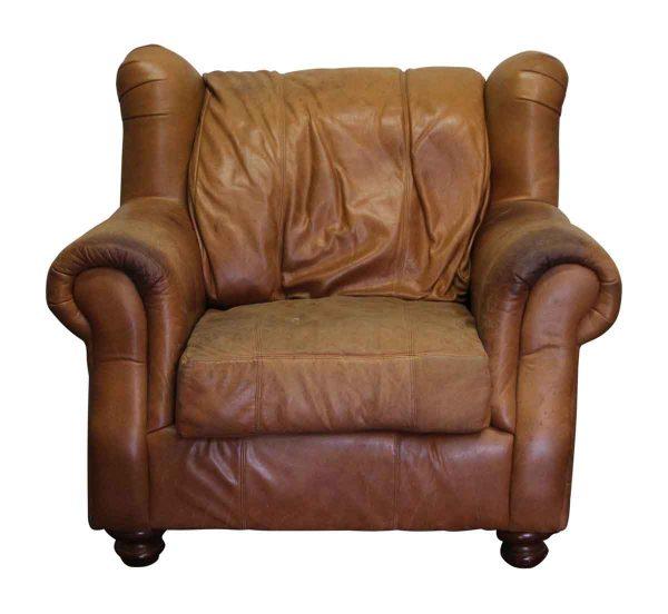 Flea Market - Oversized Wing Back Leather Chair