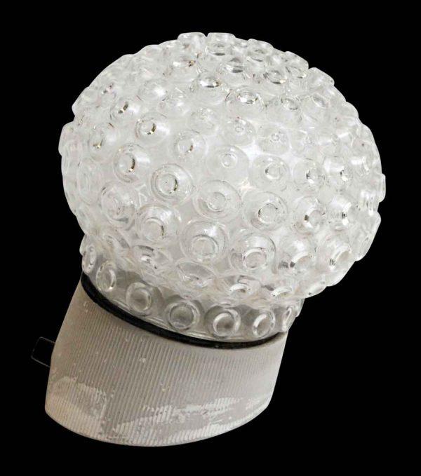 Flush & Semi Flush Mounts - European Semi Flush Angled Bubbled Glass Light Fixture