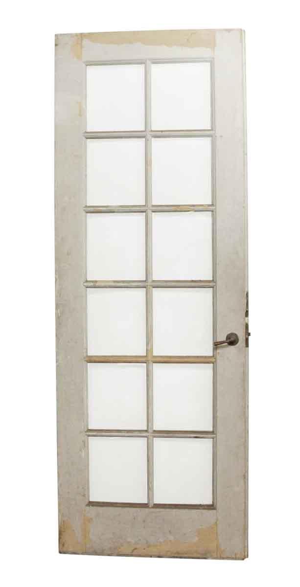 French Doors - 12 Lite Wood Frame Antique Door - 12 Lite Wood Frame Antique Door Olde Good Things