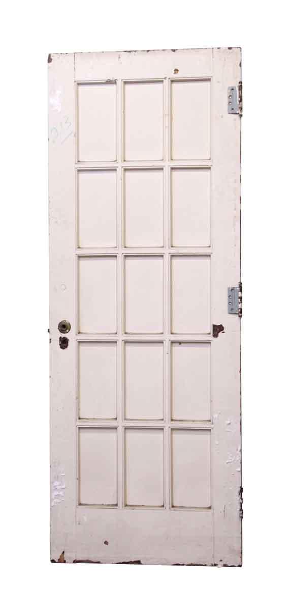 French Doors - Painted White 15 Lite Door