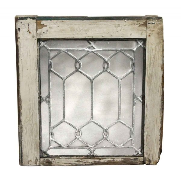 Leaded Glass - Small Square Antique Leaded Glass Windows