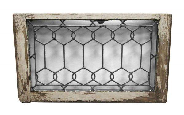 Leaded Glass - Wood Frame Leaded Glass Antique Window