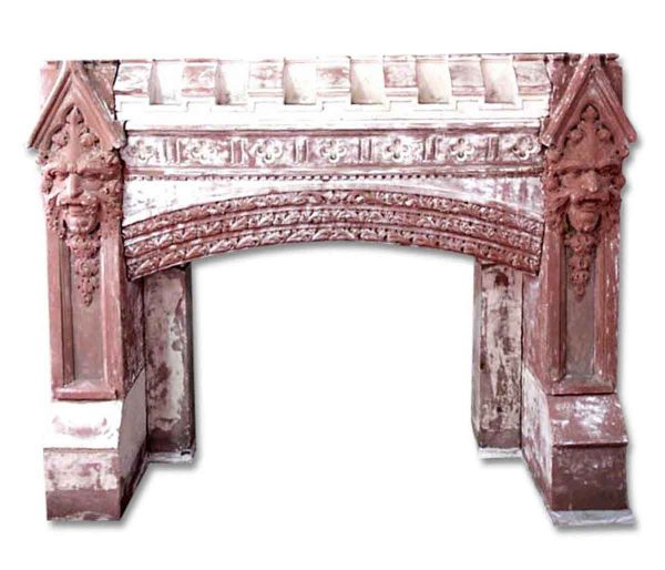 Mantels - Huge Carved Gothic Fireplace Estate Mantel