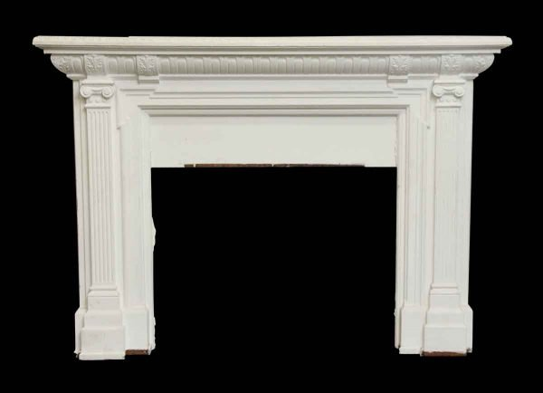 Mantels - Painted White Wooden Federal Mantel