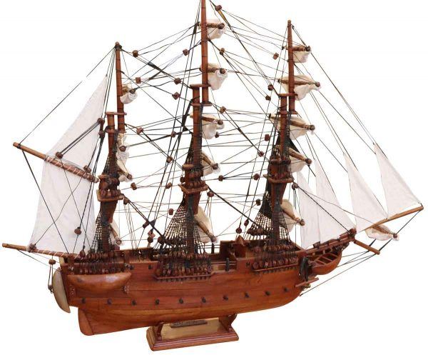 Nautical Antiques - Wooden Handmade Ship Model