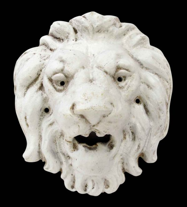 Other Wall Art  - Cast Iron White Wall Mount Lion Head