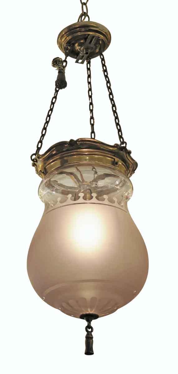Pendant Lights - Waldorf Astoria Frosted Glass Caldwell Pendant Bell Jar Light