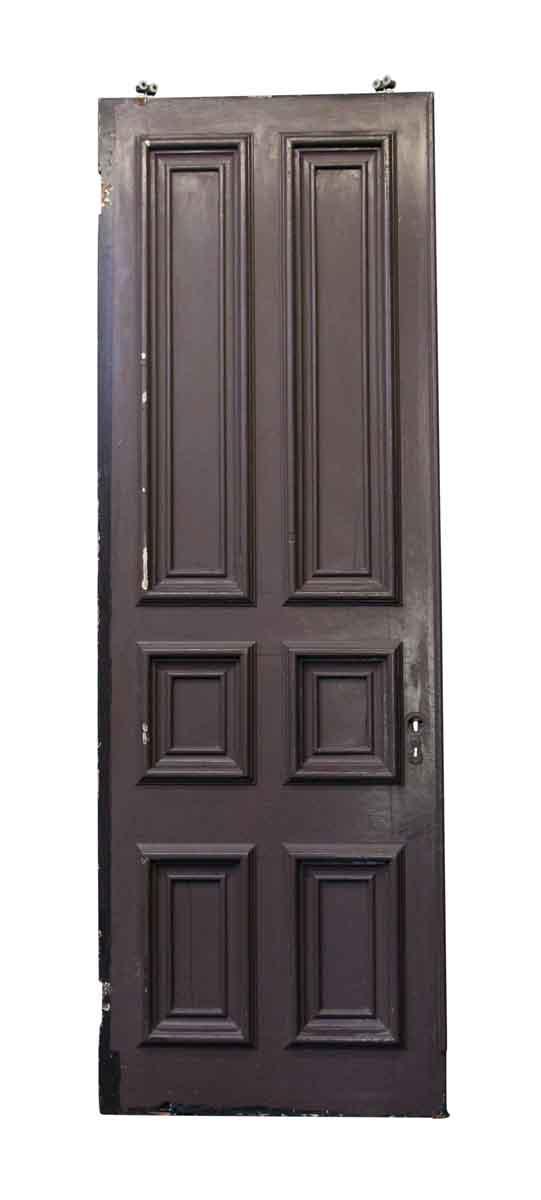 Pocket Doors - Large Brownstone Pine Pocket Door with Six Panels