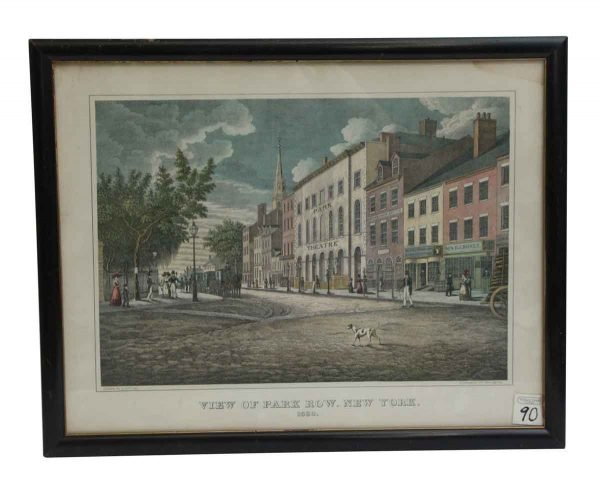 Prints  - View of Park Row New York Print