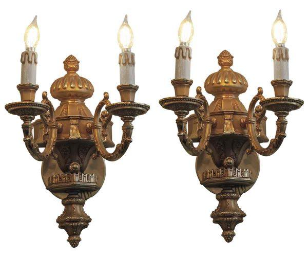 Sconces & Wall Lighting - Waldorf Astoria Duke of Windsor Suite Main Room Bronze Sconce