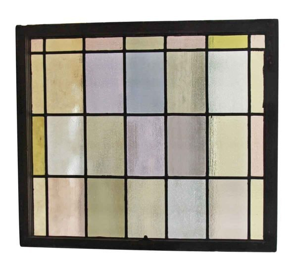 Stained Glass - Leaded Pastel Stained Glass Sash Window
