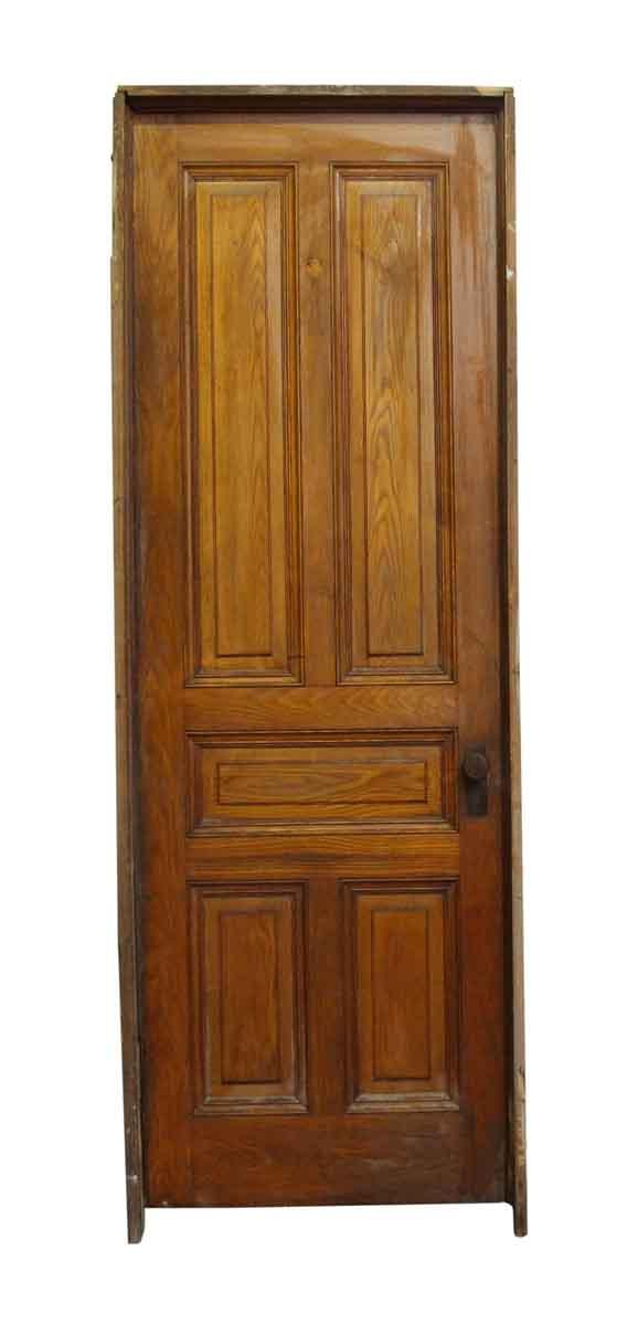 Standard Doors - Chestnut Five Panel Door with Frame and Hardware
