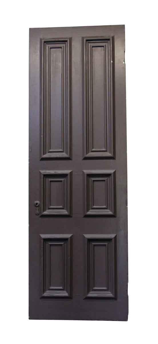 Standard Doors - Large Six Panel Painted Pine Brownstone Parlor Door