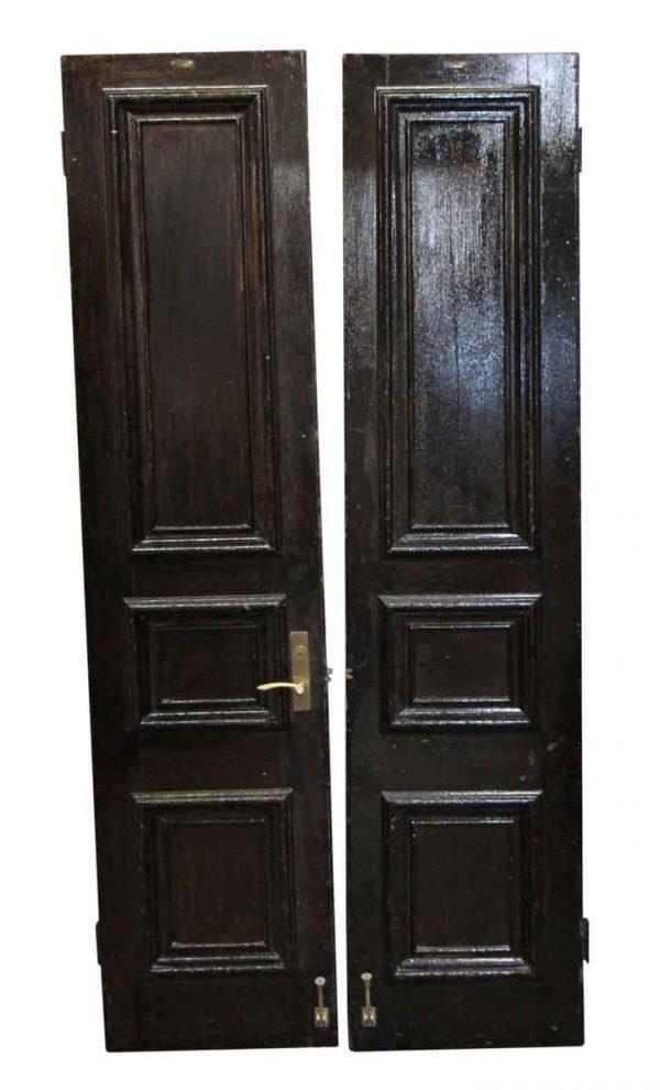 Standard Doors - Pair of Antique Three Panel Brownstone Doors