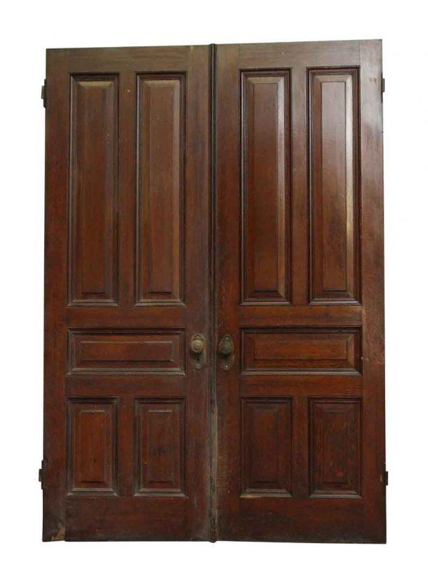Standard Doors - Pair of Dark Wooden Raised 5 Panel Doors