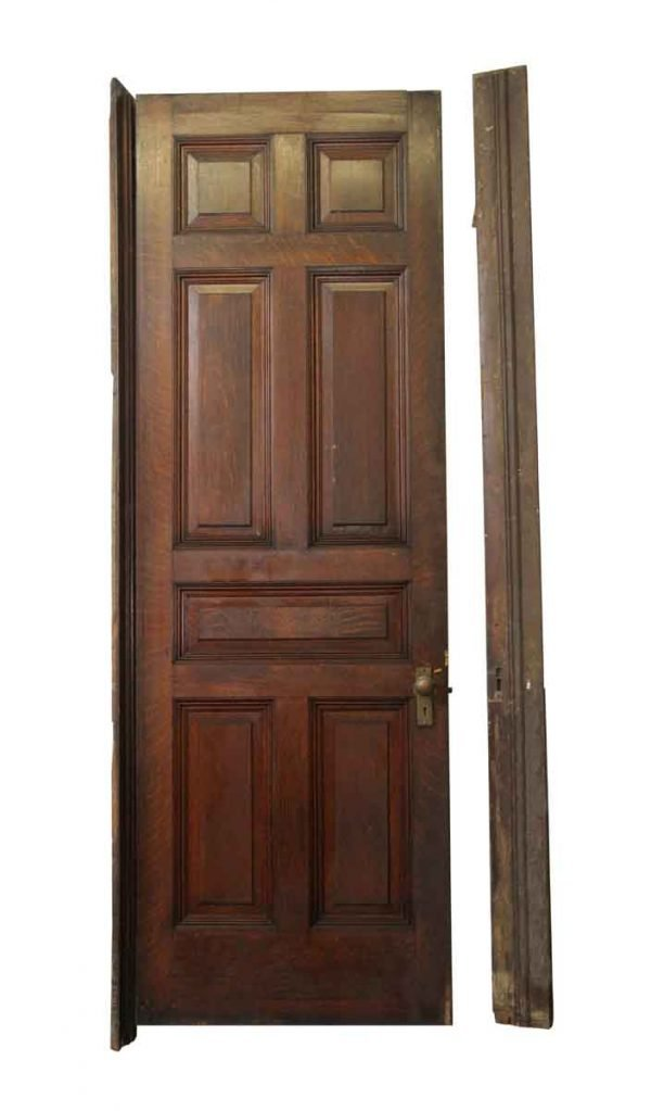 Standard Doors - Seven Panel Wooden Door with Molding