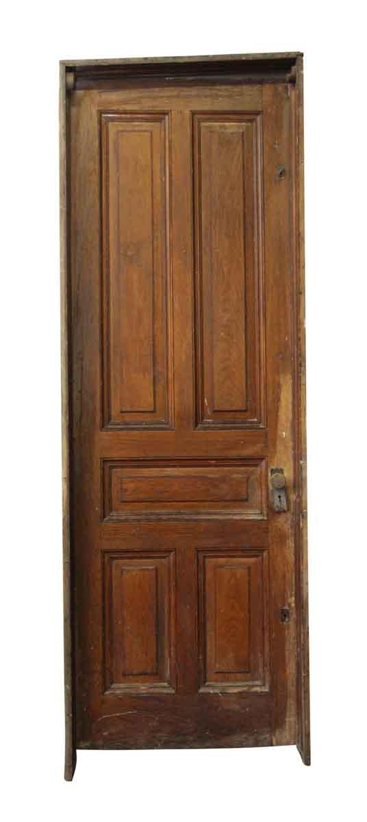 Standard Doors - Tall Chestnut Five Panel Door with Original Frame