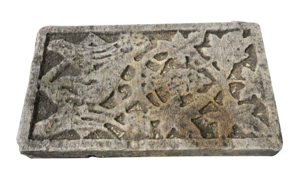 Stone & Terra Cotta - Carved Limestone Frieze with Foliage Detail
