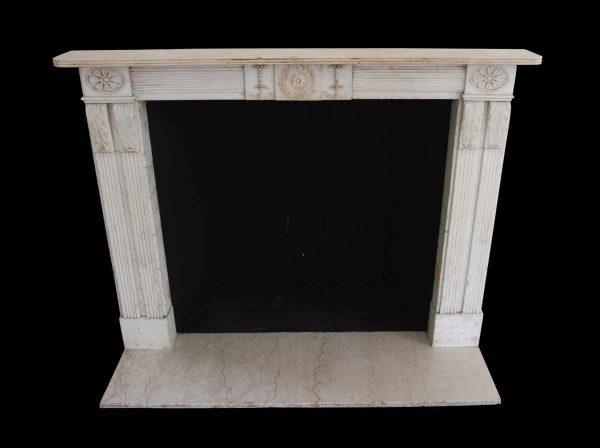 Waldorf Astoria - Waldorf Astoria Carved Statuary Marble English Regency Mantel
