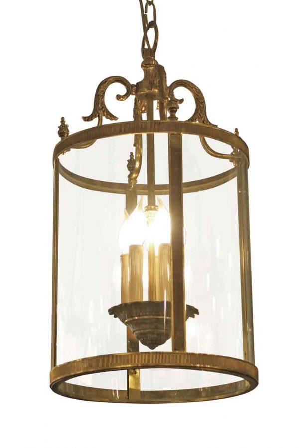 Wall & Ceiling Lanterns - Salvaged Waldorf Cast Brass Cylinder Vestibule Lantern