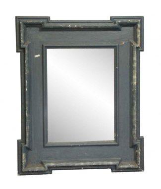 Vintage Blue Wood Framed Mirror