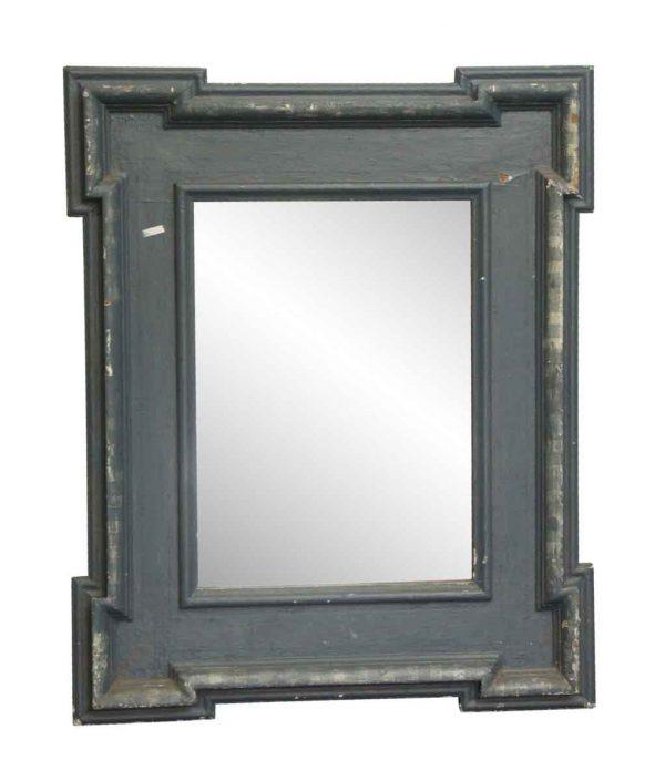 Antique Mirrors - Vintage Blue Wood Framed Mirror