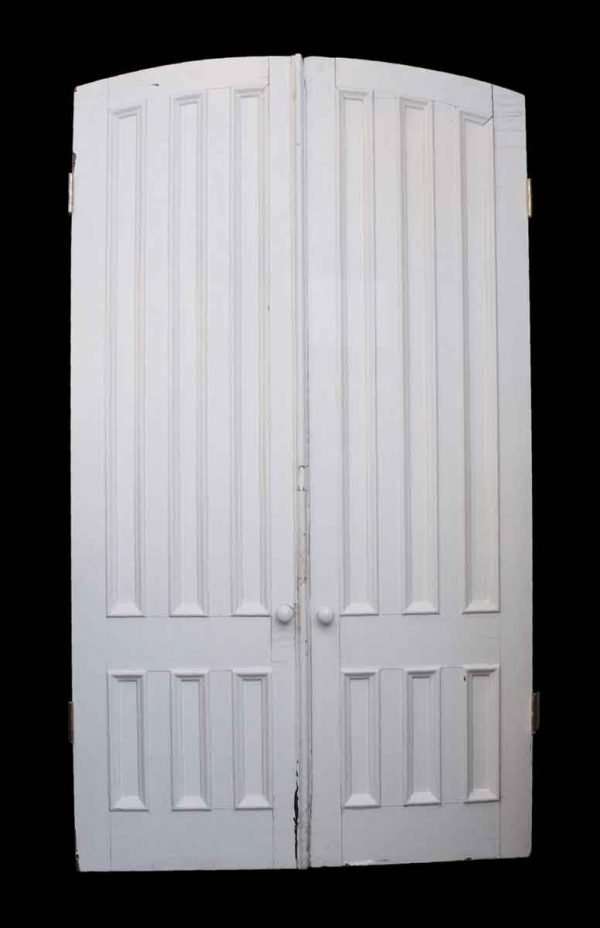 Arched Doors - Pair of Slightly Arched Tall Recessed Panel Parlor Doors