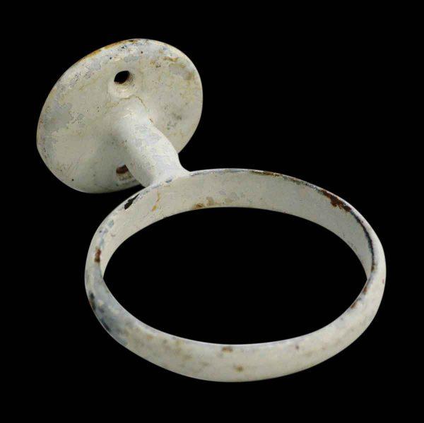 Bathroom - Vintage White Metal Cup Holder