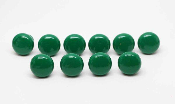 Cabinet & Furniture Knobs - Set of Ten Ceramic Green Drawer Knobs