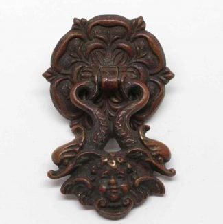 Beautiful Antique Cherubic Bronze Decorative Drawer Pull