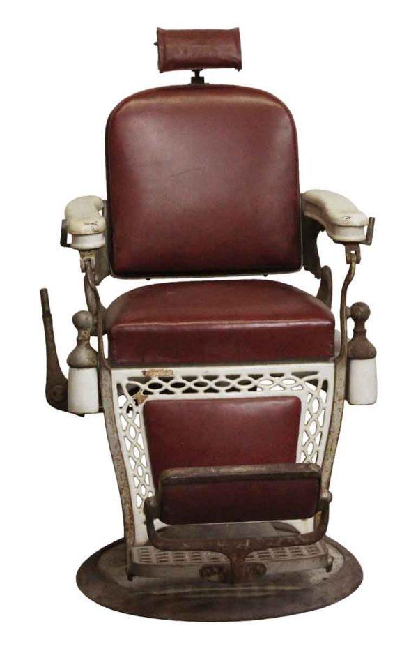 Commercial Furniture - Antique Emil J. Padair Vintage Barber Chair