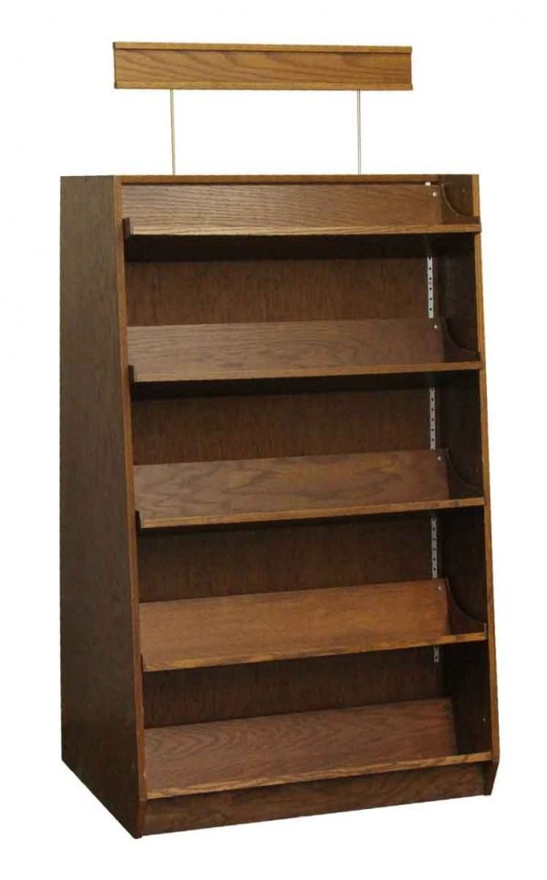 Commercial Furniture - Double Sided Oak Bookcases or Shelving Display Units