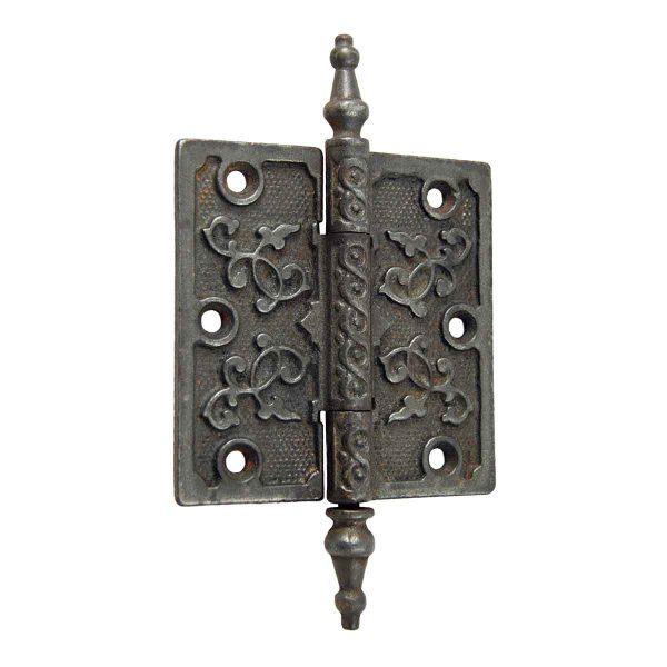 Door Hinges - Cast Iron Victorian Swirl Door Hinge