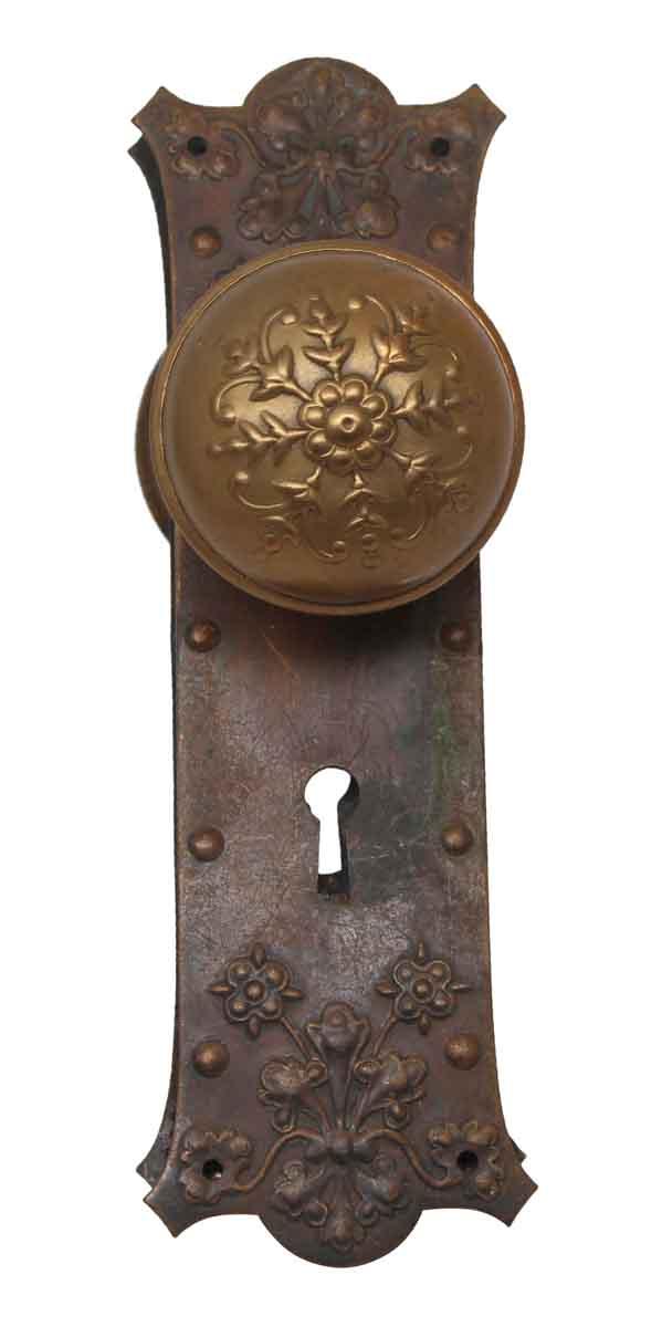 Door Knob Sets - Antique Norwalk Brass Passage Door Knob Set
