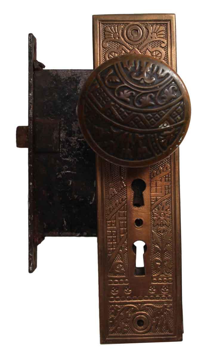 Door Knob Sets - Bronze Ceylon Corbin Entry Door Knob & Lock Set - Bronze Ceylon Corbin Entry Door Knob & Lock Set Olde Good Things