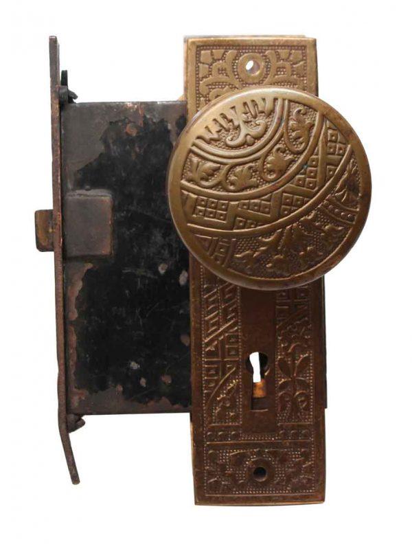 Door Knob Sets - Corbin Bronze Ceylon Passage Door Knob & Lock Set