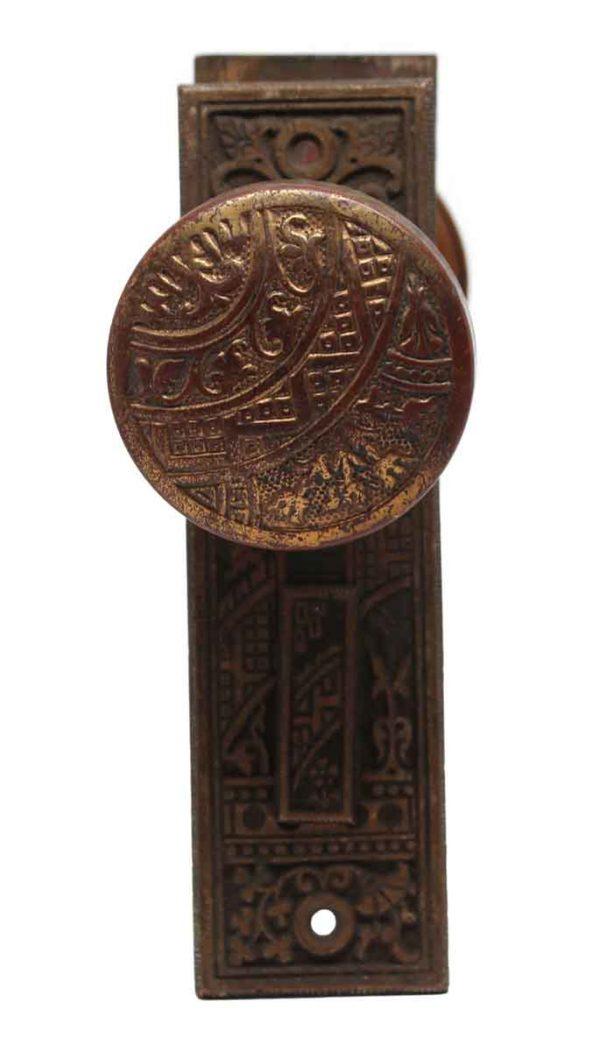 Door Knob Sets - Corbin Vernacular Ceylon Bronze Entry Door Knob & Plate Set