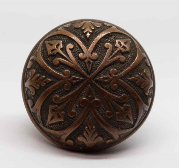 Door Knobs - 4 Fold Vernacular Bronze Norwalk Entry Door Knob