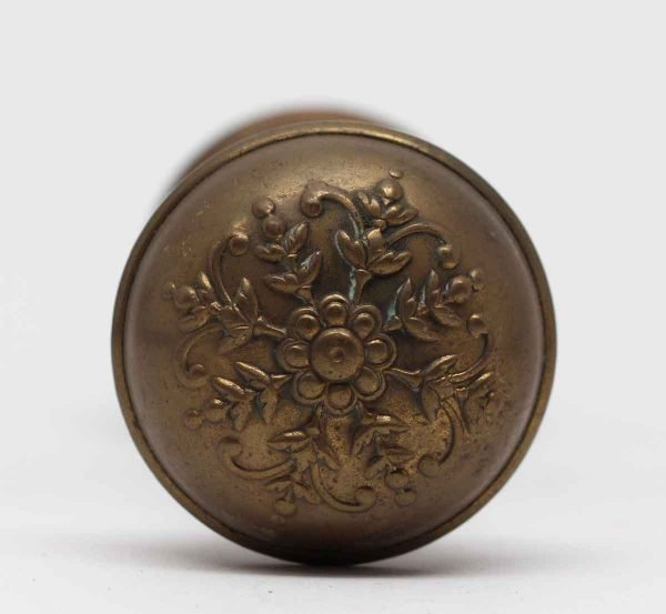Door Knobs - Antique Norwalk Brass Floral Door Knobs