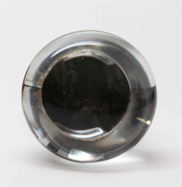 Door Knobs - Single Glass Round Blank Center Door Knob
