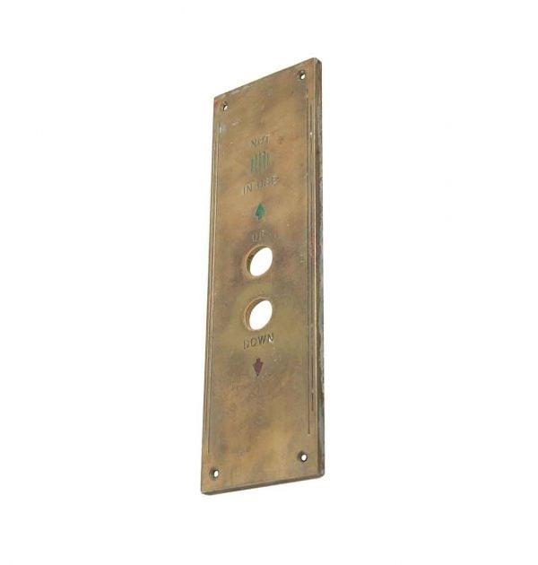 Elevator Hardware - 1900s Art Deco Cast Bronze Elevator Plate