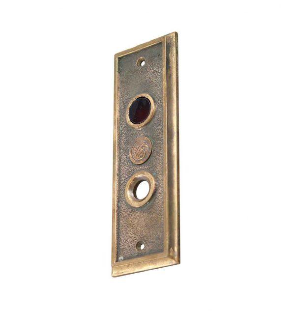 Elevator Hardware - 1900s Otis Cast Bronze Elevator Call Bell