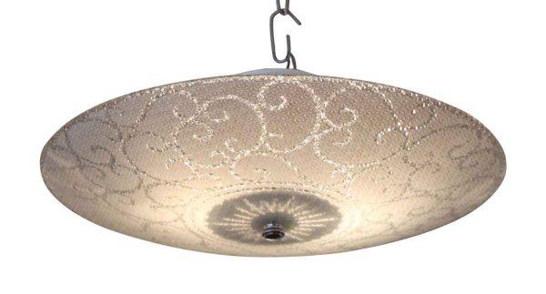 Flush & Semi Flush Mounts - 1950s Era Glass Dish Light
