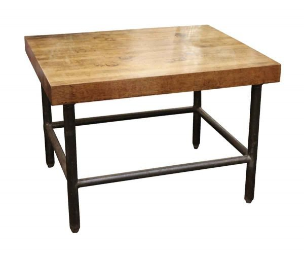 Industrial - Butcher Block Table with Black Pipe Legs