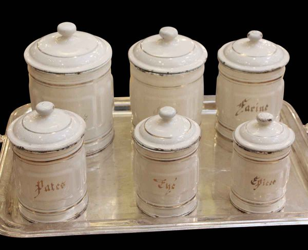Kitchen - Set of Six French Nesting Canisters